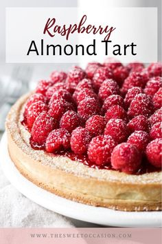 Raspberry Tarts, Raspberry Recipes, Tart Recipes, Baking Recipes, Lattice Pie Crust, Summer Pie, Mini Tart, Almond Cream, Fruit Tart