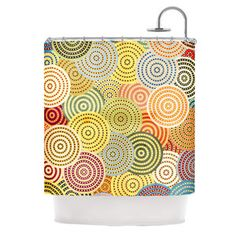KESS InHouse Matias Girl Polyester Shower Curtain