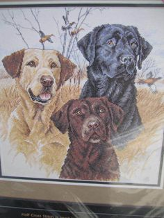 Cross Stitch Kit: Great Hunting Dogs - by Dimensions, Inc. Cross Stitching, Cross Stitch Embroidery, Cross Stitch Patterns, Stitching Patterns, Machine Embroidery, Embroidery Designs, Cross Stitch Animals, Counted Cross Stitch Kits, Hunting Dogs