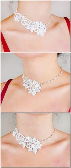 VENTA blanco encaje floral boho vintage elegante de por LaceFancy