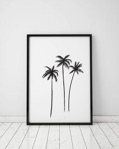 Palm Tree Print Abstract printable palm print Minimal Modern   Etsy#abstract #etsy #minimal #modern #palm #print #printable #tree Palm Tree Sketch, Palm Tree Drawing, Palm Tree Art, Palm Trees, Beach Print, Palm Print, Palm Tree Pictures, Tree Tattoo Designs, Tattoo Tree