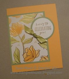 Here is a clean & simple flowery card, using the Springtime Foils Designer Paper ! I colored the flowers/leaves using the Stampin' Blends. Stampin Up Karten, Stampin Up Cards, Foil Paper, Paper Cards, Sympathy Cards, Greeting Cards, Mothers Day Cards, Card Sketches, Stamping Up