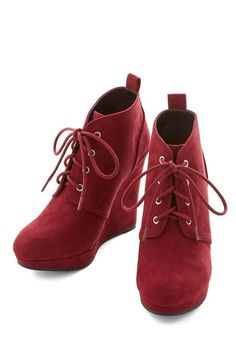 Love the ModCloth Live Local Artist Bootie in Burgundy on Wantering.