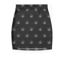 Mini Skirt - This pot leaf pattern, marijuana design is clean looking and understated, but still lets your appreciation for cannabis show. This design is also available with a white background.