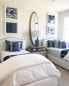 Shared bedrooms, twin bedroom ideas, guest bedrooms, girls bedroom, home . Beach House Bedroom, Home Bedroom, Girls Bedroom, Bedroom Decor, Twin Bedroom Ideas, Wall Decor, Wall Art, Shared Bedrooms, Guest Bedrooms