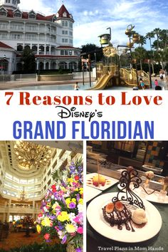 7 Reasons to Love Disney's Grand Floridian Resort and Spa. Without giving too much away here's a hint: think splashy foodie friendly lovie beauty great spottie and Cinderelly. Sounds like names of Seven Dwarfs doesn't it? Disney Resort Hotels, Disney World Hotels, Disney Destinations, Disney World Florida, Walt Disney World Vacations, Disney Travel, Disney Parks, Disney World Honeymoon, Disney Vacation Club