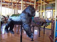 Gorilla on a Merry Go Round.             by Carousel Works Inc., Mansfield, Ohio