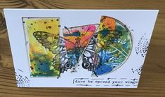 Butterfly colour in thirds by Ozpom - Cards and Paper Crafts at Splitcoaststampers Mixed Media Cards, Penny Black, Petunias, Dragonflies, Happy Day, Tea Party, Butterflies, Insects, Doodles