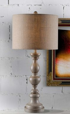 Bennet 1 Light Table Lamp In Toasted Almond With Tan Textured Shade