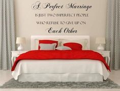 Check out A Perfect Marriage Vinyl Wall Decal Custom Wall Decals Custom Vinyl Decal Romantic Sayings Wall Art Wedding Wall Decal Bedroom Decals on inspirationwallsigns Custom Wall Decals, Wall Decals For Bedroom, Wall Decal Sticker, Bedroom Decor, Custom Vinyl, Vinyl Decals, Master Bedroom, Night Bedroom, Modern Bedroom