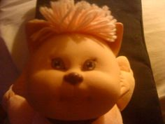 """Adorable Vintage Cabbage Patch Kids """"Koosa"""" Cat with Collar! 1980's!"""