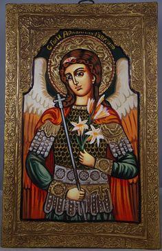 Saint St Archangel Gabriel Christian Russian Handpainted Orthodox Byzantine Icon