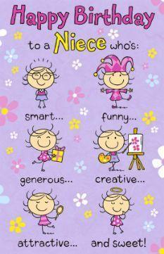 birthday card for niece printable - Google Search