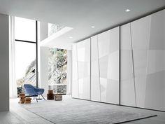 Lackierter Anbau-Kleiderschrank mit Schiebetüren Tecnopolis anta SHAPE by Presotto Industrie Mobili Design Pierangelo Sciuto