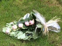 5. Hand tied Sheaf - funeral sheaf arrangement in seasonal flowers - various colourways - created by Willow House Flowers Aylesbury florist - www.willowhouseflowers.co.uk