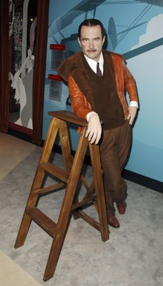 Howard Hughes wax work, Madame Tussauds, Hollywood