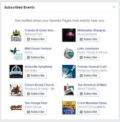 #Facebook #eventssubscribe for FB pages? #facebookmarketing #digitalstrategy