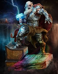 ArtStation - Old King Thor Fan Art, Tiago Zenobini Marvel Comics Art, Marvel Heroes, Ms Marvel, Captain Marvel, Comic Books Art, Comic Art, Disneysea Tokyo, Old King, The Mighty Thor