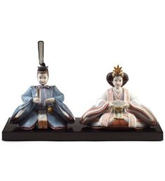 LLADRO - HINA DOLLS 2012 | iSSUE YEAR 2011 |  Hinamatsuri, also called Doll's Day or Girls' Day, is a special day in Japan. Hinamatsuri is celebrated each year on March 3. Platforms covered with a red carpet are used to display a set of ornamental dolls representing the Emperor, Empress, attendants, and musicians in traditional court dress of the Heian period.