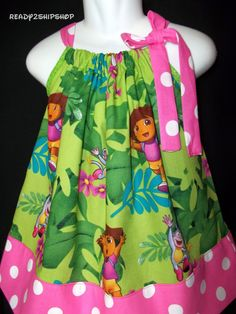 Dora Explorer dress Birthday Party outfit pink by Ready2ShipShop, $19.50