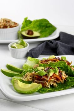 No need to look any further for a slow cooker chicken taco recipe. | Paleo & Whole 30 Friendly | whole30 dinners | paleo crockpot recipes | gluten-free crockpot recipes | freezer friendly crockpot recipes | healthy crockpot recipes || The Real Food Dietitians #crockpottacos #whole30dinners #whole30recipe