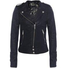 Women's Jofama Marie Leather Biker Jacket found on Polyvore
