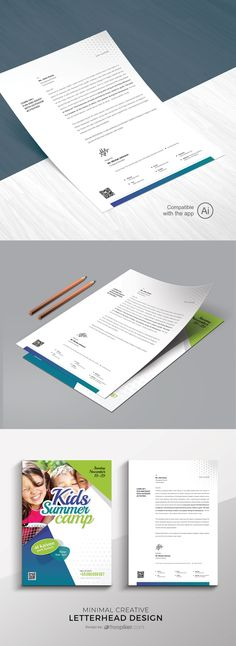 Kids Summer Camp Letterhead Template