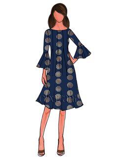 Navy Blue Art Silk Short Kurti