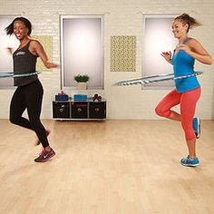 Grab that old hula-hoop to whittle your waist and tone your abs with Hoopnotica.