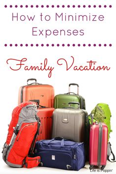 How to Minimize Family Vacation Expenses! It's time for the family to plan a getaway together. Even kids need a holiday. But, with a family of any size, the expense of just reaching your destination can be daunting. Here are some ideas and tips to help you cut down on expenses while still enjoying a wonderful vacation.