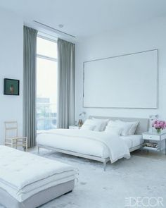 loving the all white in this bedroom