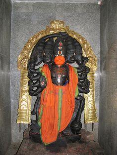 Panchamukha Hanuman at Sri Padaivettamman Temple, BLR Hanuman Pics, Hanuman Images, Shri Hanuman, Saraswati Goddess, Kali Goddess, Hanuman Ji Wallpapers, Shiva Parvati Images, Abstract Iphone Wallpaper, Tanjore Painting