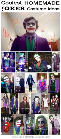 Coolest Joker Halloween Costume Ideas - Homemade Costume Contest