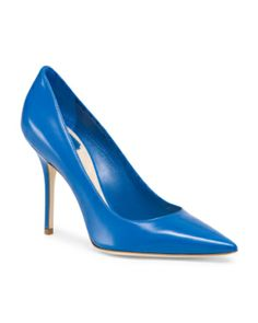 image of Leather Pointy High Heel Pumps