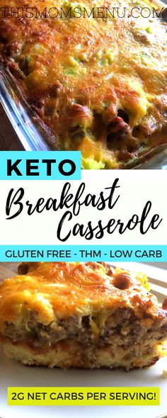 Breakfast Casserole - Keto Breakfast - Ideas of Keto Breakfast - This breakfast casserole is a Christmas morning staple at my house! And with only 2 net carbs per serving it's completely keto friendly too! Ketogenic Recipes, Low Carb Recipes, Diet Recipes, Cooking Recipes, Healthy Recipes, Recipies, Diet Tips, Diabetes Recipes, Primal Recipes