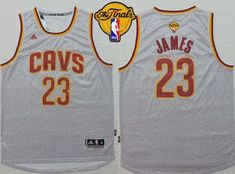 dd44689d5d0b Cavaliers  23 LeBron James Grey Fashion The Finals Patch Stitched NBA  Jersey Lebron James 2017