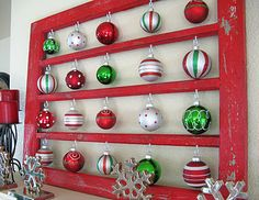 Use this as an advent countdown.  Use ornament that have different names of Jesus on them.