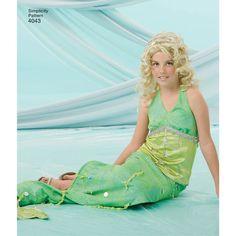 Simplicity Pattern 4043 Child's, Girls' & Misses' Mermaid Costumes Mermaid Costumes, Costume Patterns, Vintage Wardrobe, Fantasy Costumes, Renaissance Fair, Happy Summer, Simplicity Sewing Patterns, Kids Girls, Knit Dress