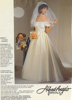 Bride in a vintage wedding gown from a magazine. Wedding Dressses, Bridal Wedding Dresses, Designer Wedding Dresses, Bridal Style, Vintage Dress Patterns, Vintage Gowns, Vintage Bridal, Chic Vintage Brides, Vintage Weddings
