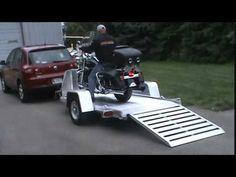 Aluma MC10 Motorcycle Trailer with Harley