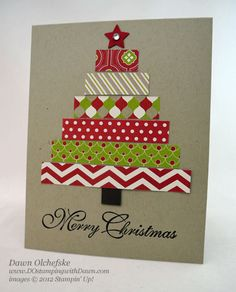 Celebration Day Festival of Prints Tree Card & Give-a-Way Stampin' Up! Christmas by Dawn Olchefske at DO Stamping with Dawn: Festival-of-Prints-TreeStampin' Up! Christmas by Dawn Olchefske at DO Stamping with Dawn: Festival-of-Prints-Tree Homemade Christmas Cards, Stampin Up Christmas, Christmas Cards To Make, Christmas Tag, Homemade Cards, Handmade Christmas, Holiday Cards, Christmas Fashion, Simple Christmas
