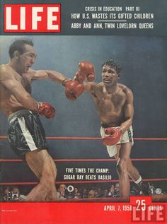 Sugar-Ray-Robinson-vintage-boxing-magazine-cover This Day in History: Nov 23, 1936: First issue of Life is published http://dingeengoete.blogspot.com/