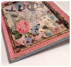 An altered Botanical Tea frame from Diane Schultz' workshop! #graphic45