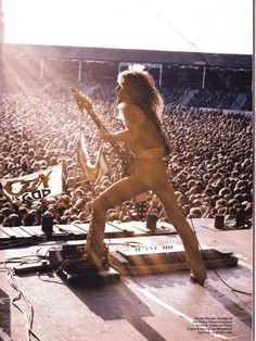 Randy Rhoads at Port Vale, supporting Motorhead--looks like heaven is shining down on him