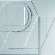 Stanislav Kolíbal, Dva bílé reliéfy A, 2011 Tile Art, Painting Inspiration, Geometry, Paper Art, Design Art, Abstract Art, Arts And Crafts, Typography, Golden Ratio