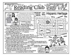 HISPANIC HERITAGE - Enjoy a Hispanic heritage-themed activity page and two Hispanic heritage-themed puzzles with this discounted bundle! Includes the following products:   • Hispanic Heritage Activity Page Set   • Hispanic Leaders in Politics and Education Crossword Puzzle (Puzzle Pals)  • Hispanic Stars in Science and Invention Crossword Puzzle (Puzzle Pals)