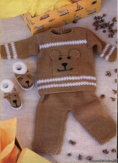 Baby Knitting Patterns Pants 3 ภ Knitting Patterns Boys, Baby Boy Knitting, Baby Patterns, Baby Vest, Baby Pants, Baby Cardigan, Knitted Baby Outfits, Crochet Baby Dress Pattern, Crochet Hoodie