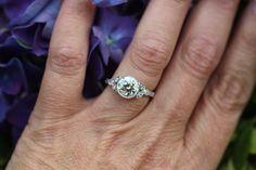 OEC flower-inspired bezel ring by David Klass Jewelry.