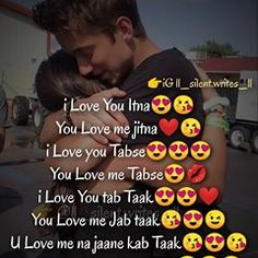 Image may contain: 5 people, text that says 'iG Gll_silent.writes_ ¡Love You Itna You Love me jitna Love you Tabse You Love me Tabse iLove You tab Taak You Love me Jab taak u Love me na jaane kab Taak iLove You marte Dum Taak' Muslim Love Quotes, Couples Quotes Love, Romantic Love Quotes, Couple Quotes, Most Romantic, Love You Images, I Love You, My Love, Sayri Hindi Love