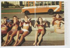 vintage image of summer tanning in southern california